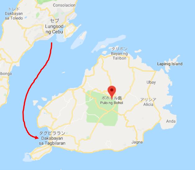 ボホール島地図