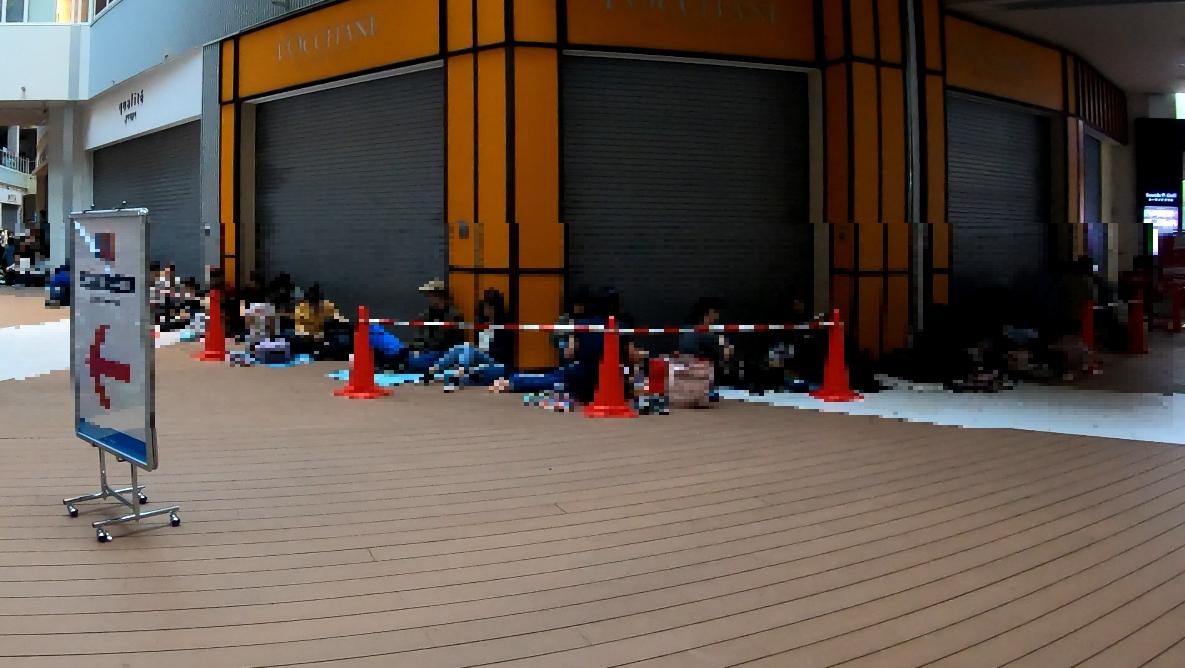 キッザニア東京朝の混雑