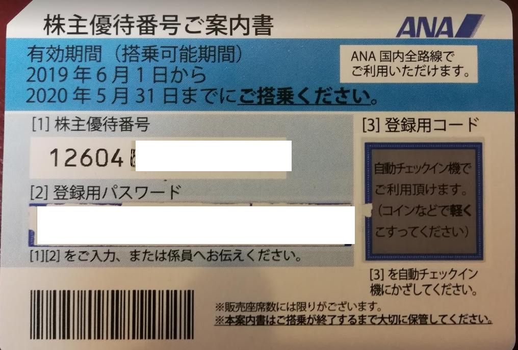 ANA 株主優待券